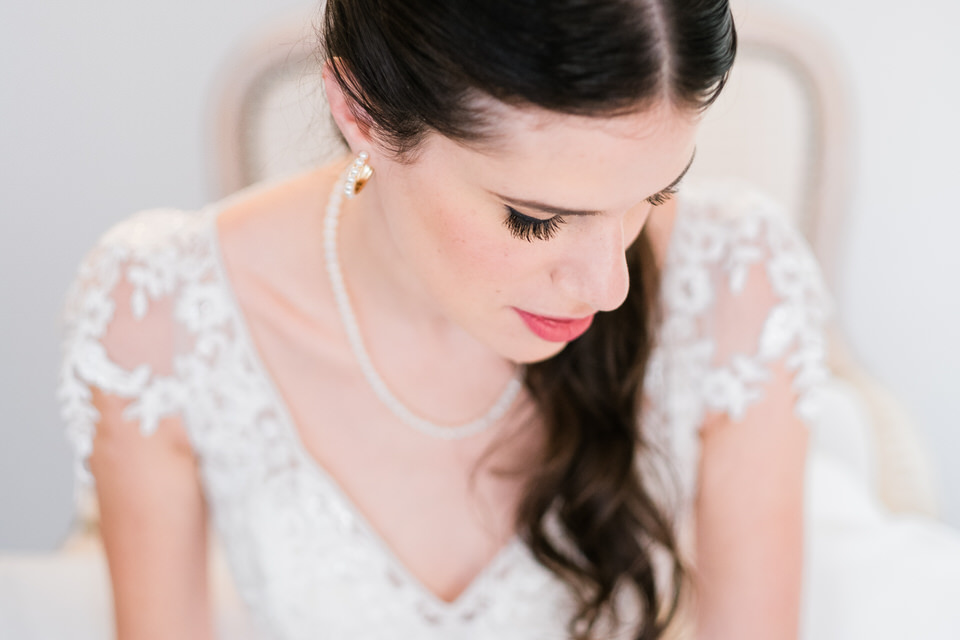 portrait d'une mariée à aix en provence