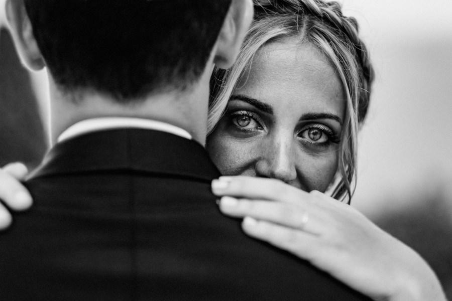 photo des yeux d'une mariée à toulon