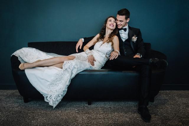 photo de mariés à antibes