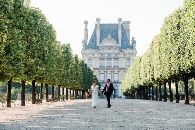 photo de mariage jardins des tuileries paris