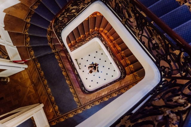 photo couple de mariés hotel particulier paris