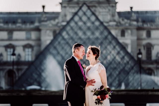photo de mariage louvre paris