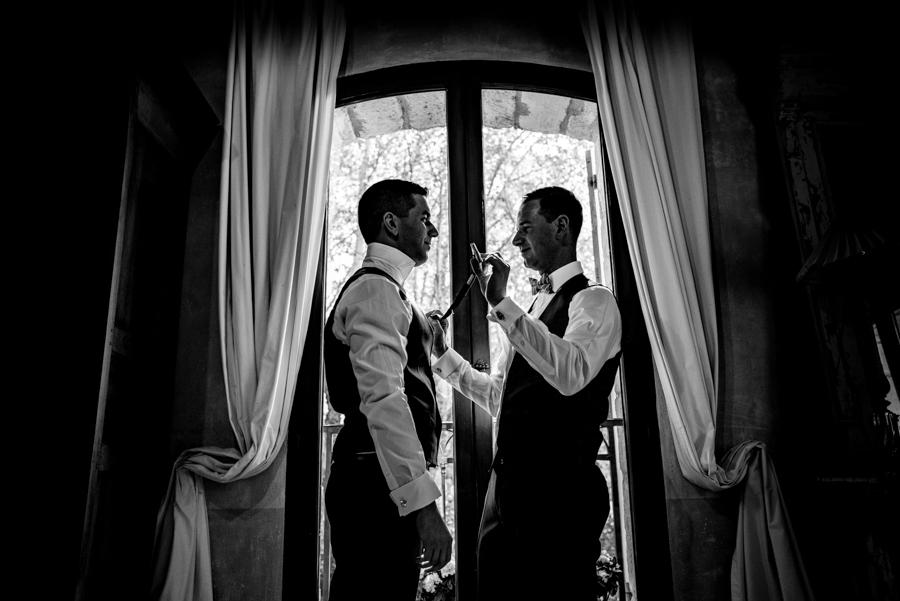 photo préparatif mariage gay provence