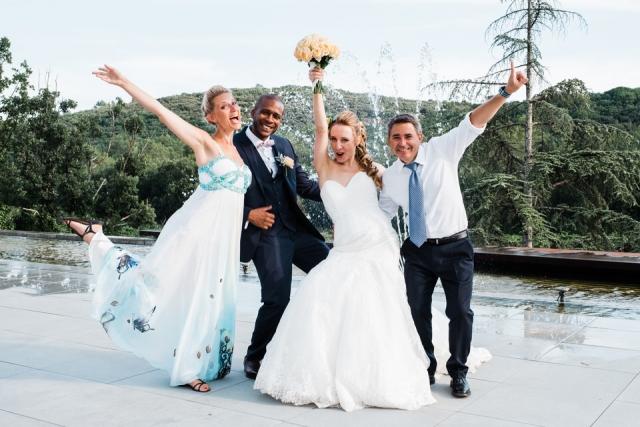 photo de groupe mariage commanderie de peyrassol